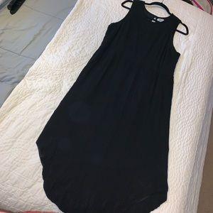 Old Nave Size XL Black Midi Dress